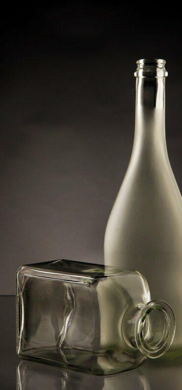 bottles, glass, empty